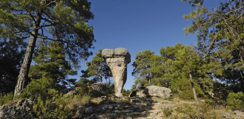 EL Tormo Alto Cuenca de Ciudad Encantada, Castilla-La Mancha, termas fotos de stock royalty free