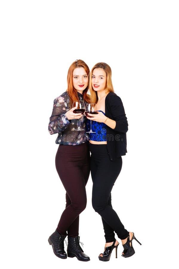 El tostar de las muchachas fotografía de archivo