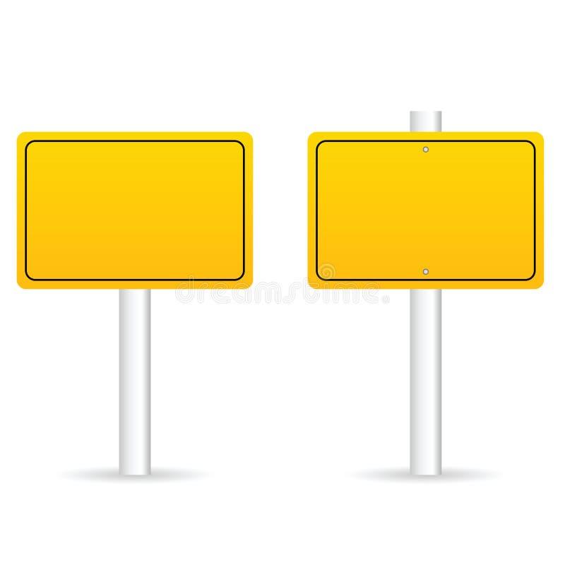 el tráfico por carretera firma adentro el ejemplo determinado del amarillo ilustración del vector