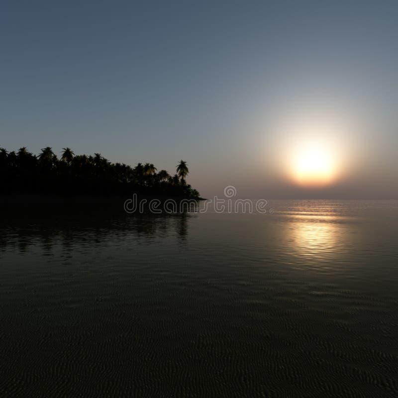 El trópico sueña salida del sol libre illustration