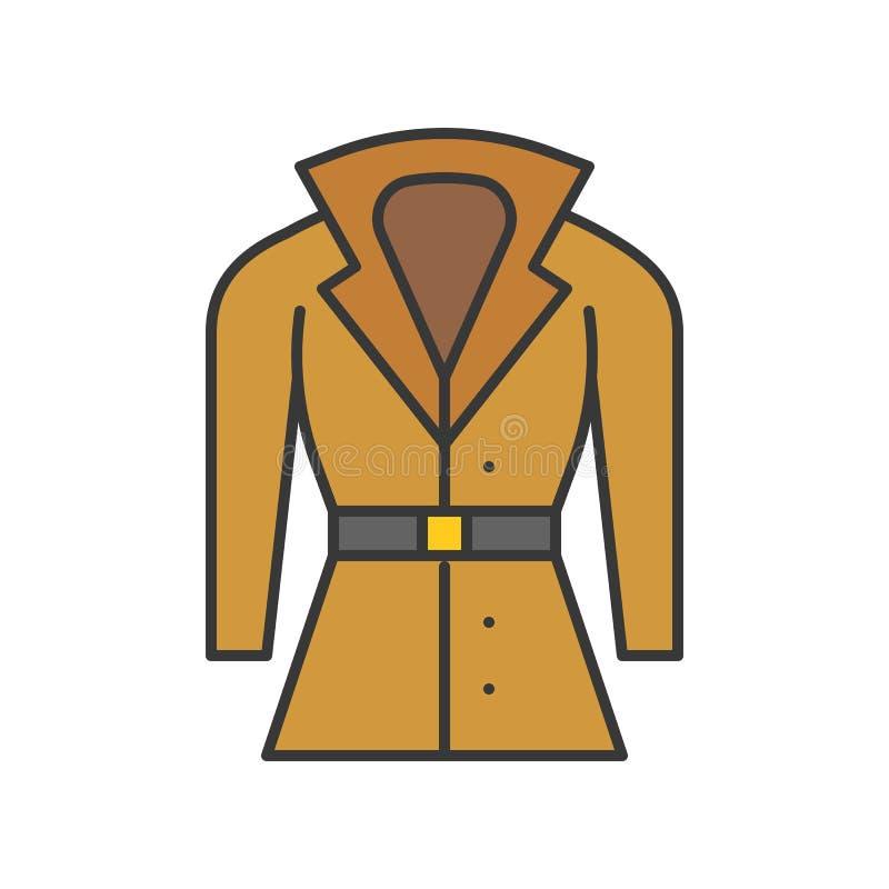 El traje del invierno, llenó el movimiento editable del esquema del color libre illustration