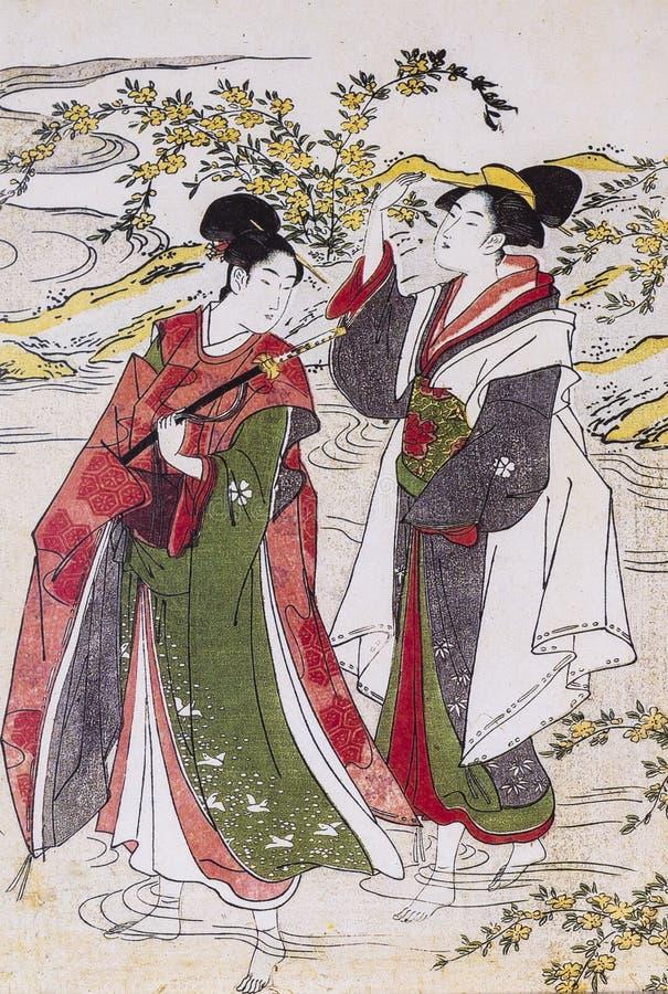 El traje tradicional de Japón fotos de archivo