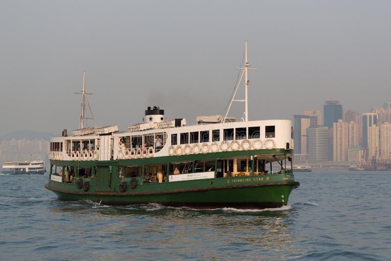 El transbordador de la estrella en Hong-Kong imagenes de archivo