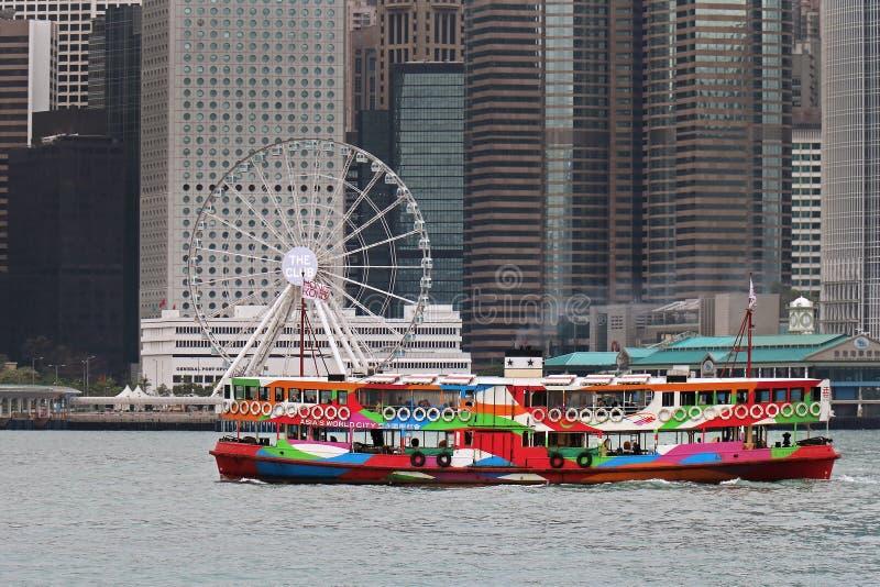 El transbordador de la estrella en Hong-Kong fotografía de archivo