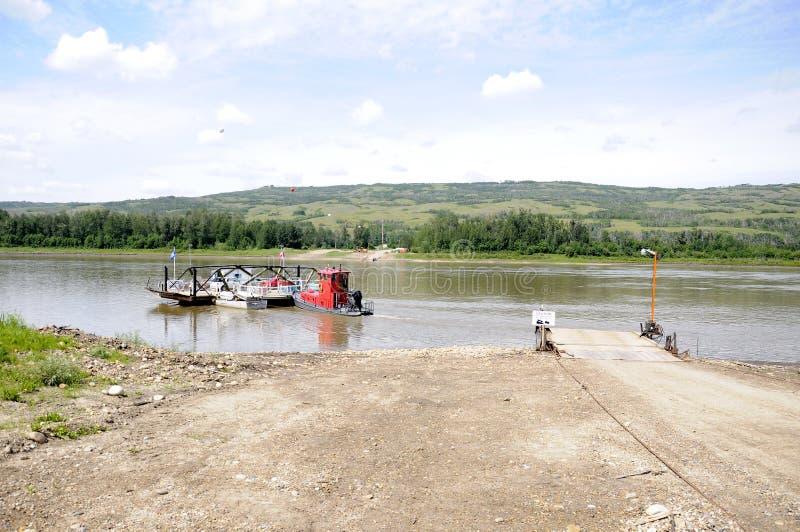 El transbordador de Shaftesbury en el Peace River foto de archivo