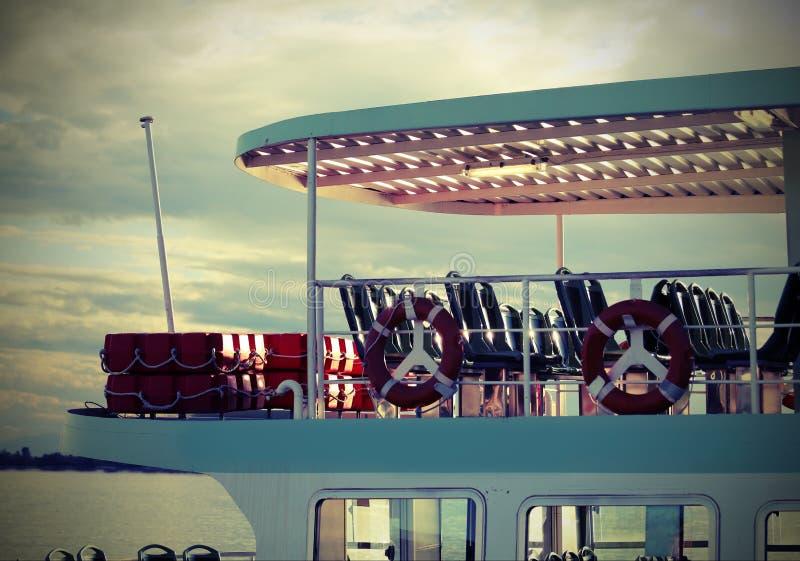 El transbordador también llamó VAPORETTO en de lengua italiana a Venecia fotografía de archivo libre de regalías