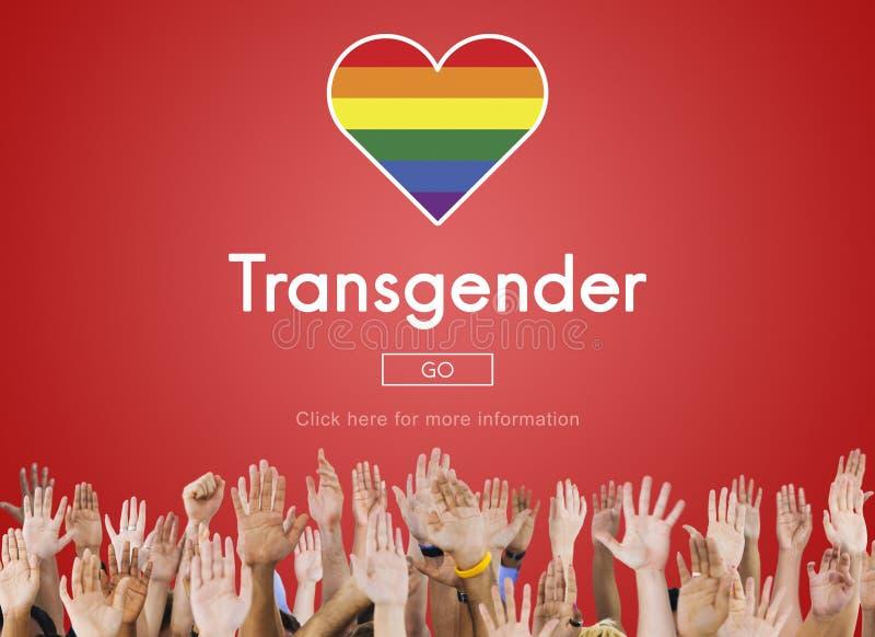 El transexual LGBT homosexual endereza concepto bisexual imagen de archivo