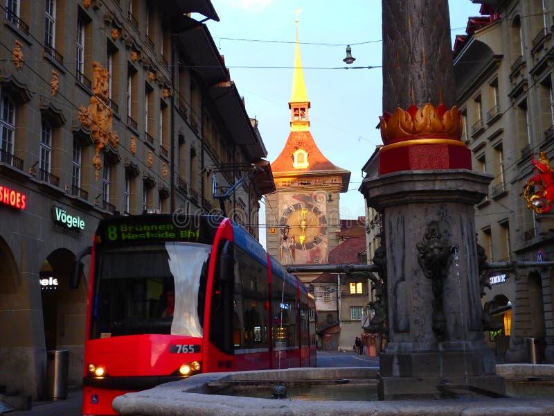 El transporte en Suiza está en segundo lugar a ningunos foto de archivo libre de regalías