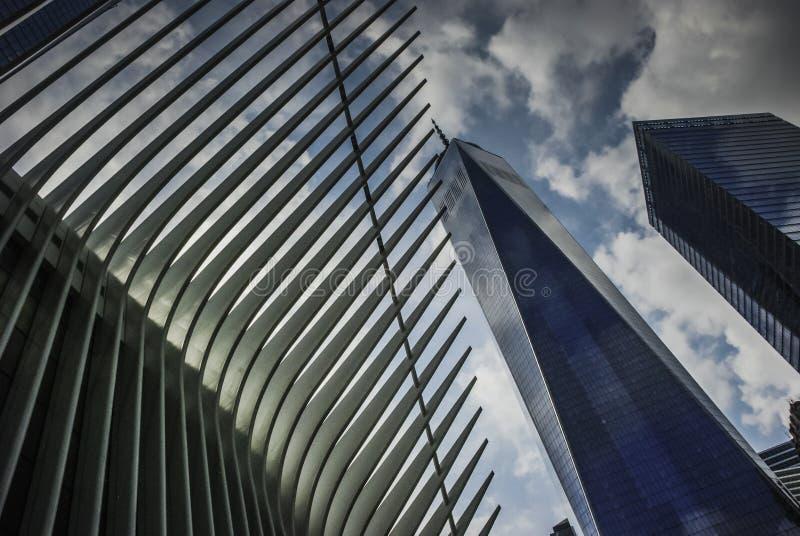 El transporte Hub— y el Oculus, Nueva York del World Trade Center fotografía de archivo libre de regalías