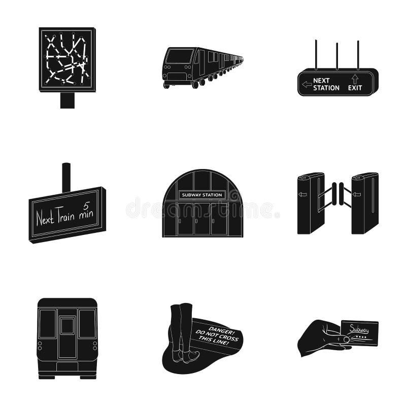 El transporte público relacionó el sistema del icono stock de ilustración