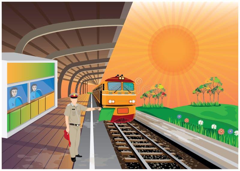 El tren amarillo libre illustration