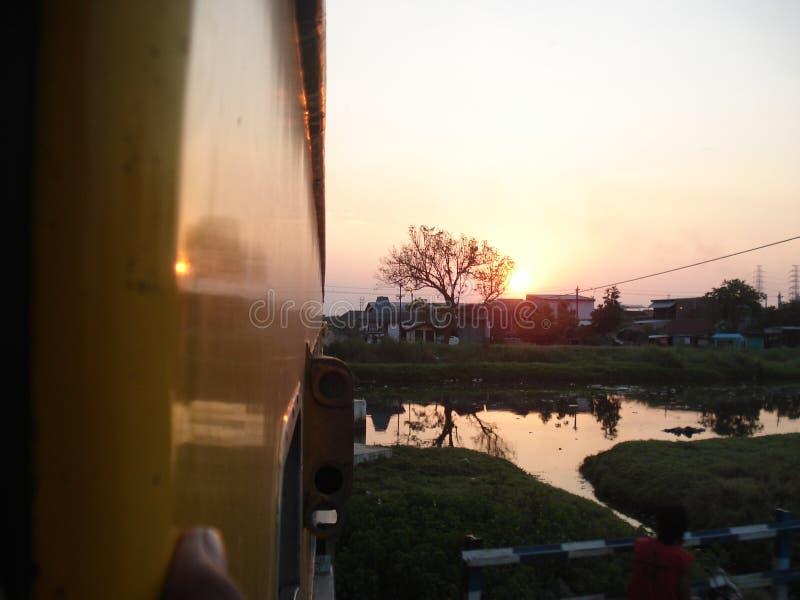 El tren de Blora Jaya Ekspres fotos de archivo libres de regalías