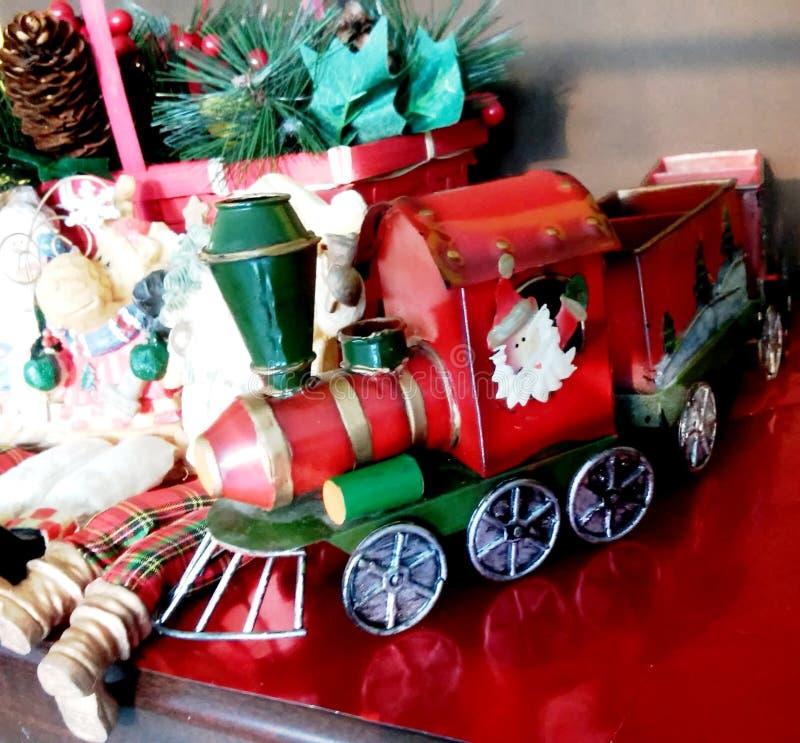 El tren de la Navidad foto de archivo