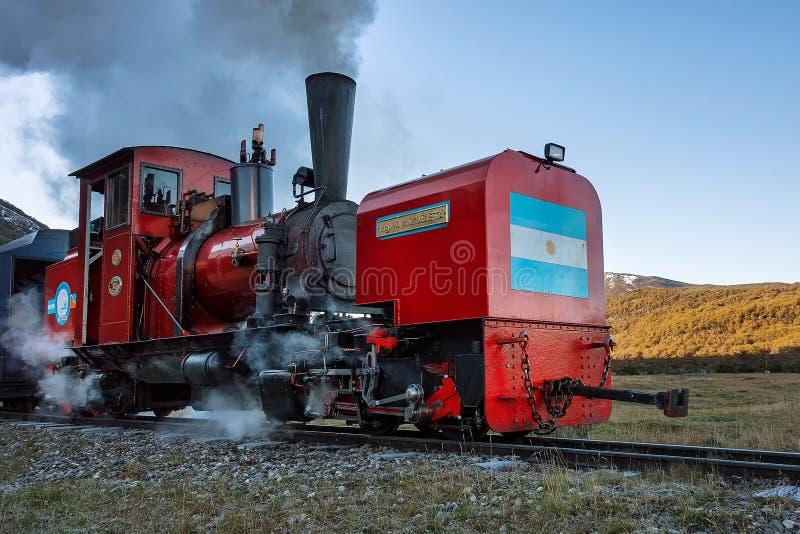 El tren del extremo del mundo fotografía de archivo
