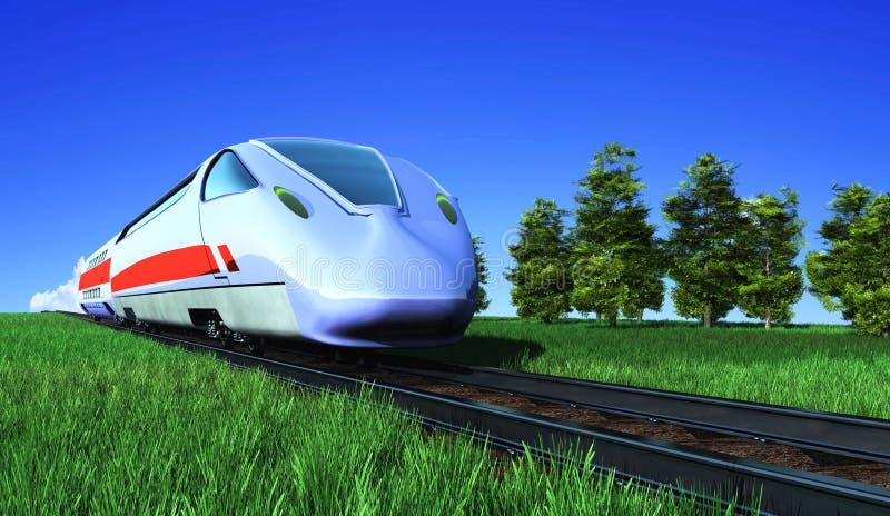 El tren moderno ilustración del vector