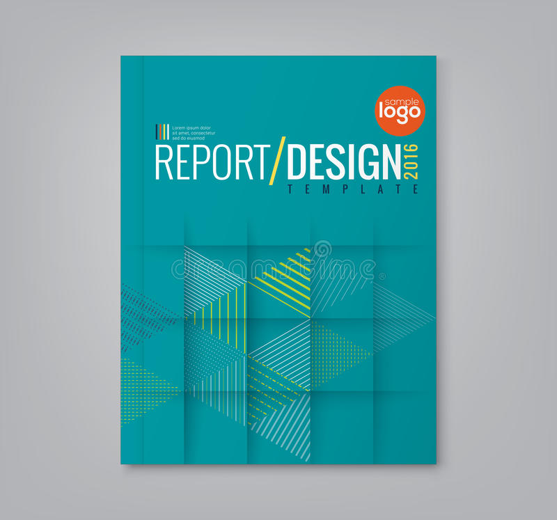 El triángulo abstracto forma el fondo para la cubierta de libro de informe anual del negocio ilustración del vector
