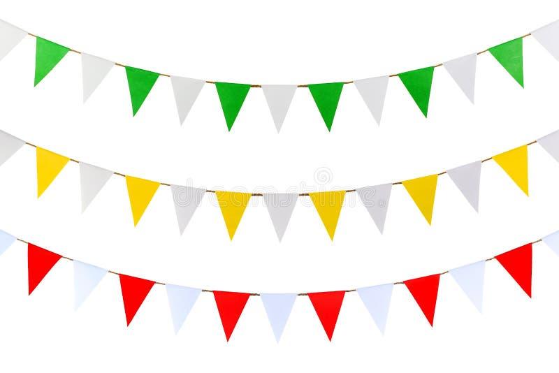 El triángulo empapela la ejecución en la cuerda imagen de archivo