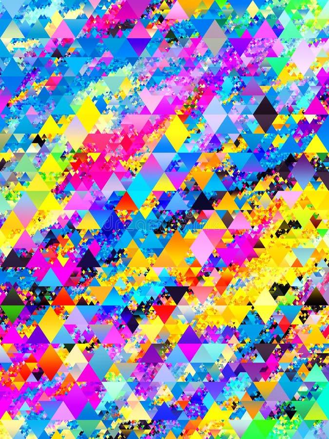 El tri?ngulo abstracto colorido forma dise?o del modelo stock de ilustración