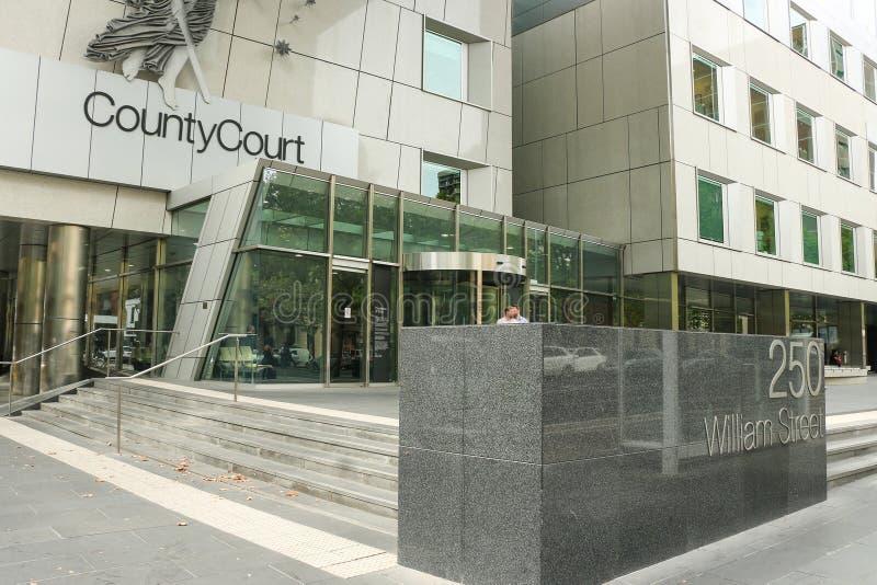 El Tribunal del Condado de Victoria tiene jurisdicción para oír todas las materias no procesables excepto traición, asesinato y h imágenes de archivo libres de regalías