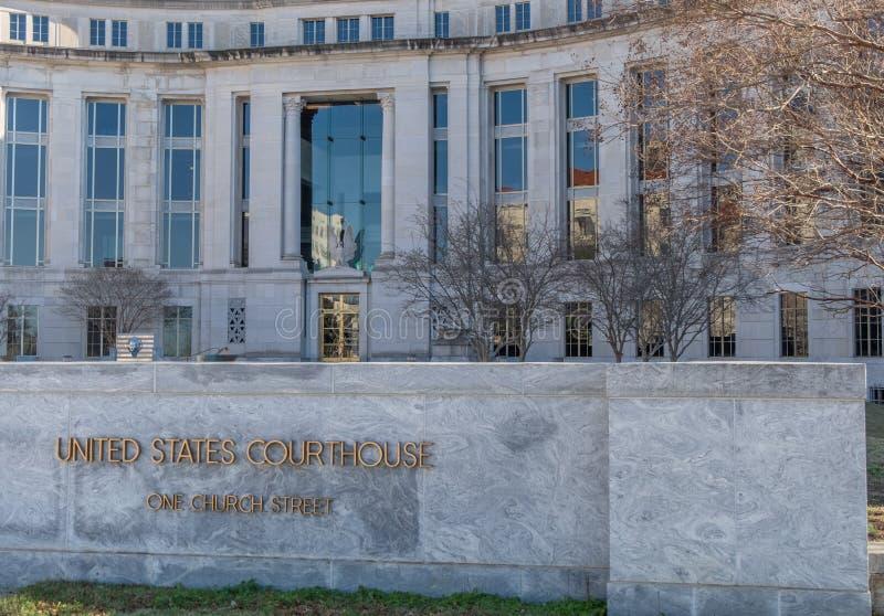 El tribunal federal en Montgomery Alabama fotos de archivo