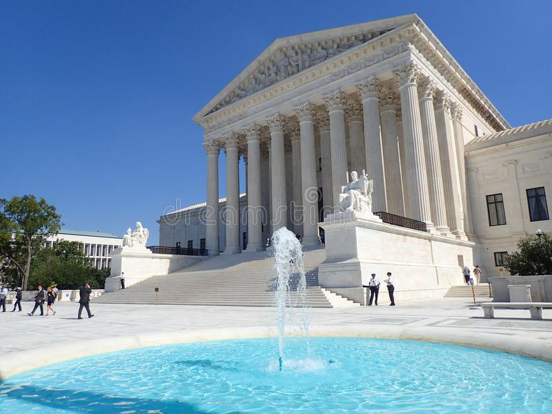 El Tribunal Supremo de Estados Unidos imagen de archivo libre de regalías