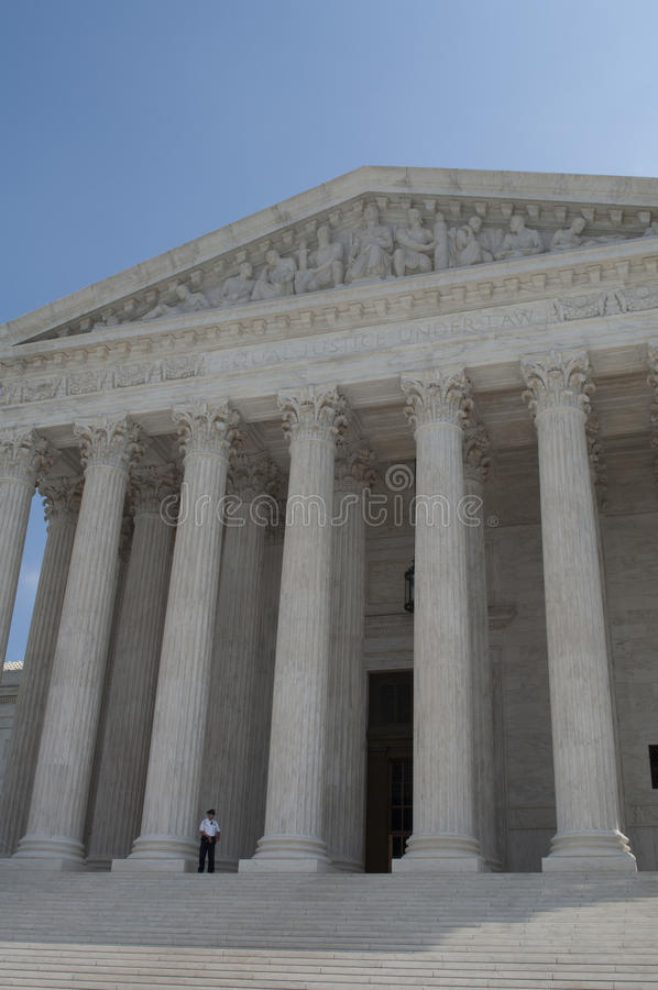 El Tribunal Supremo de los Estados Unidos imagen de archivo