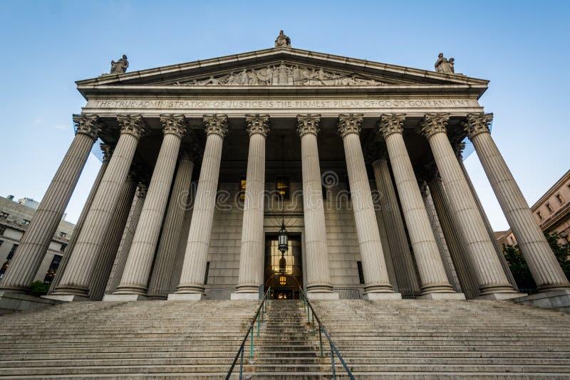 El Tribunal Supremo del condado de Nueva York, en Lower Manhattan, New York City foto de archivo