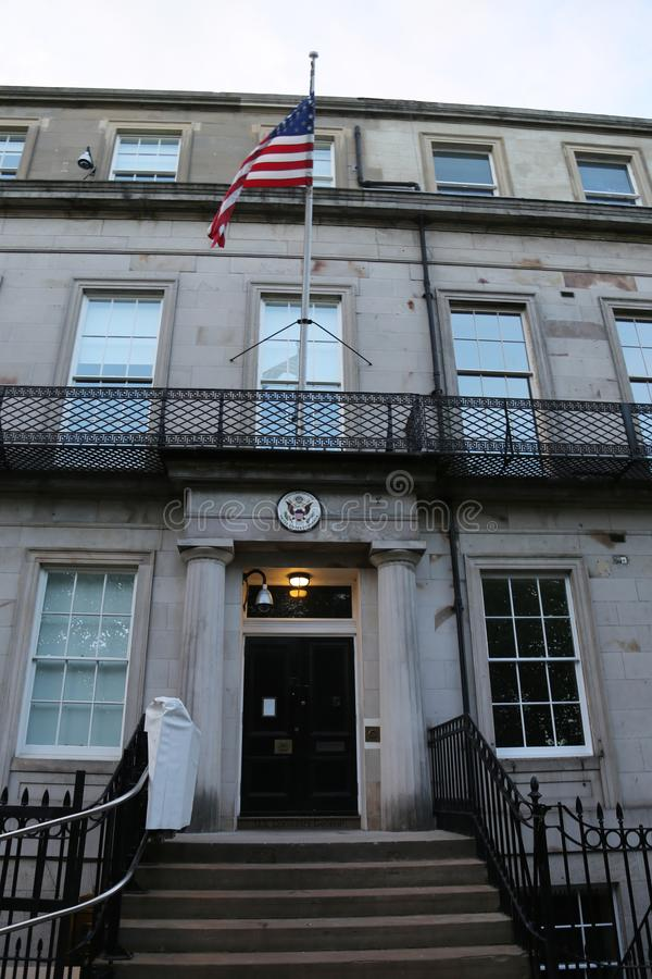 El Tribunal Supremo en Washington, C S Consulado general en Edimburgo, Escocia imagen de archivo
