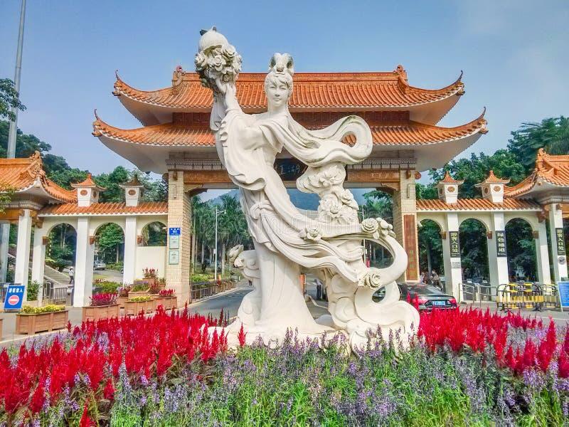 El tubo principal del jardín botánico del xianghu imágenes de archivo libres de regalías