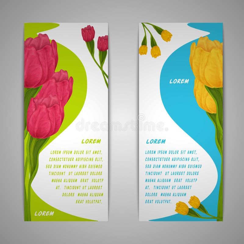 Download El Tulipán Florece Banderas Ilustración del Vector - Ilustración de bandera, negocios: 42436091