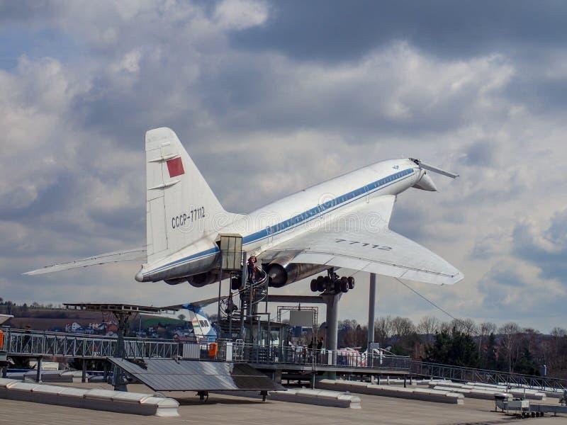 El tupolev en el museo foto de archivo libre de regalías
