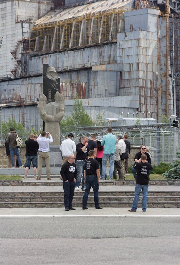 El turismo del desastre en Ucrania trae a turistas a Chernóbil imagen de archivo libre de regalías