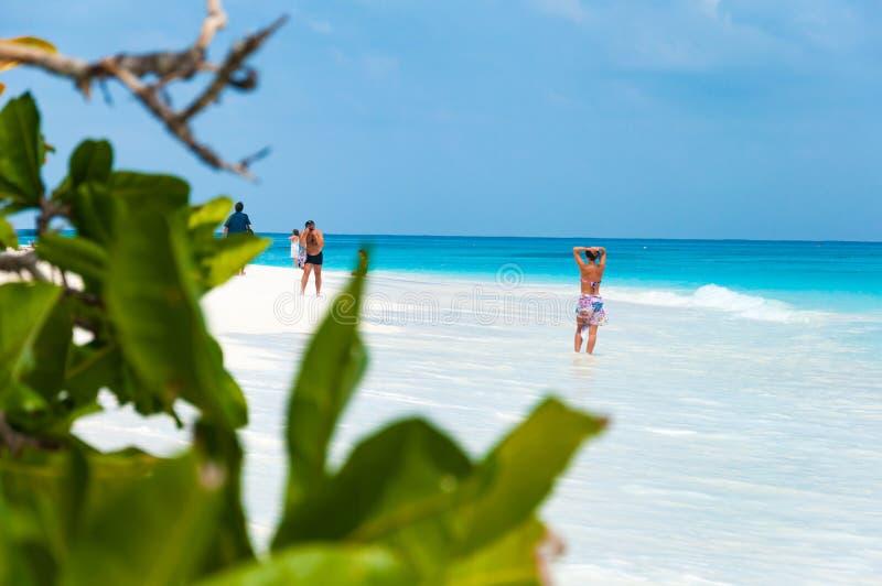 El turista goza y se relaja en la playa en la isla de TA chai, Similan, fotos de archivo