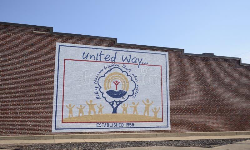 El United Way de América estableció 1955 imagenes de archivo