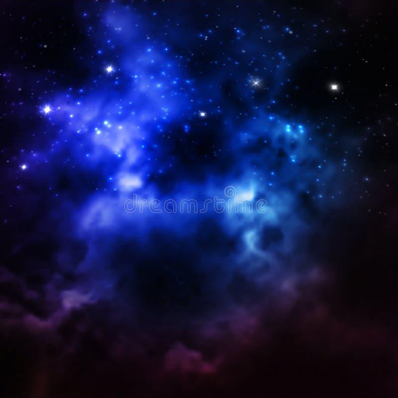 El universo llenó de las estrellas, de la nebulosa y de la galaxia fotos de archivo