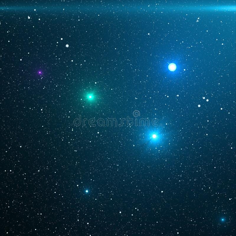 El universo llenó de las estrellas, de la nebulosa y de la galaxia La galaxia de la manera del primer con las estrellas y el espa stock de ilustración