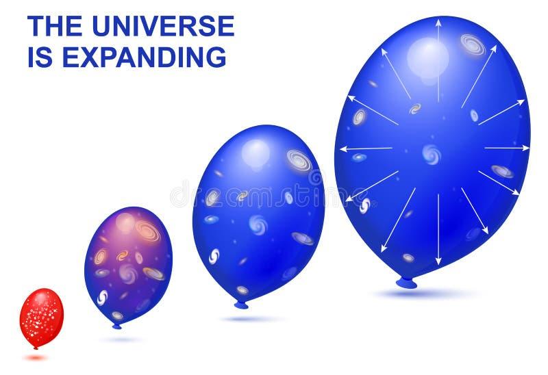 El universo se está ampliando stock de ilustración