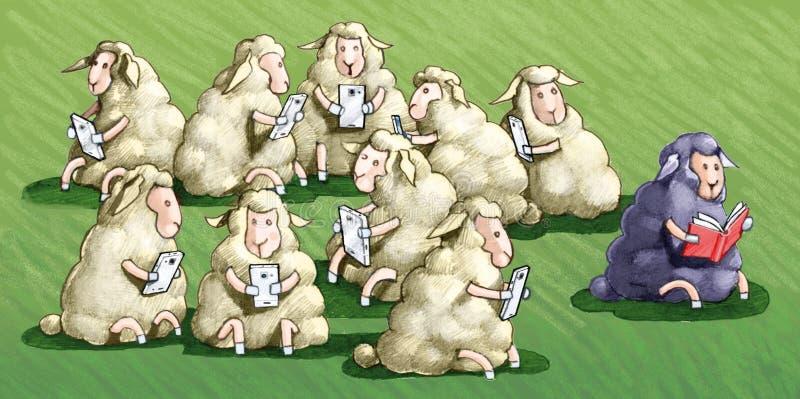 El uso del ` t del doesn de la ley del negro de las ovejas la celda de prisión stock de ilustración