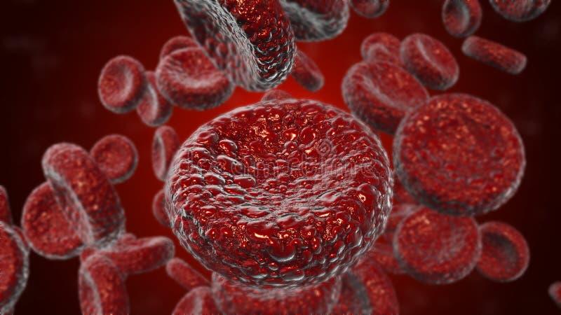 El uso rojo de los gl?bulos como ejemplo m?dico es una imagen 3D y se escribe la palabra libre illustration