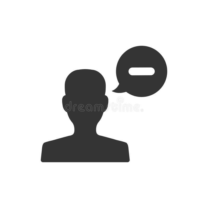 El usuario quita el icono libre illustration