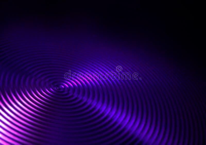 El vértigo remolina los anillos de las ondulaciones de los círculos de los surcos imagen de archivo libre de regalías