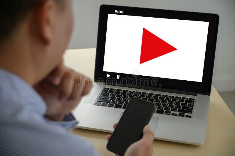 El v?deo audio del M?RKETING VIDEO, comercializa los canales interactivos, medios concepto de la tecnolog?a del m?rketing de la i imagen de archivo libre de regalías