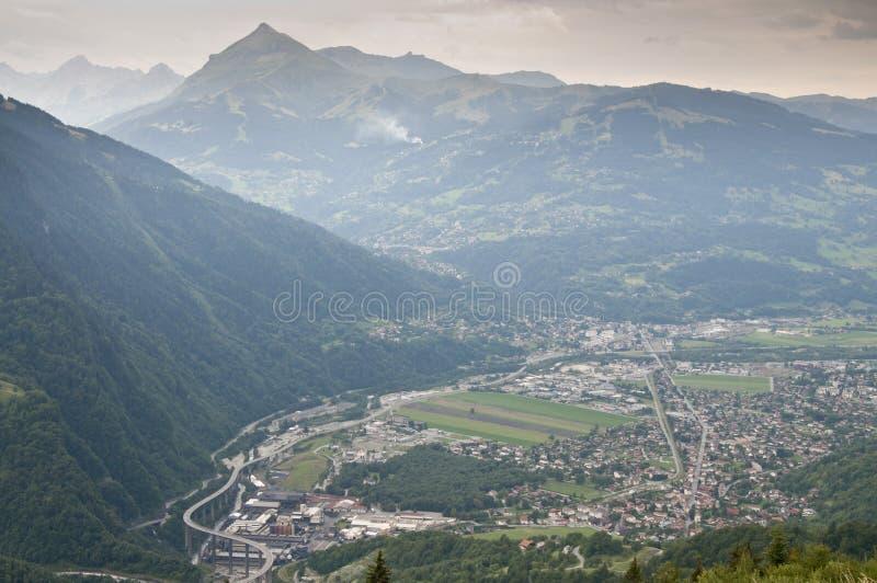 El valle de Passy (Chamonix, Francia) imagenes de archivo