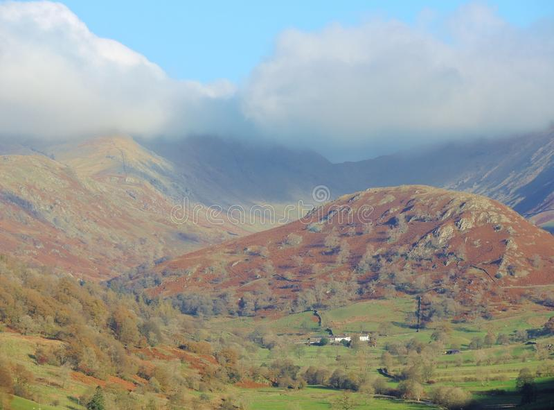 El valle de Troutbeck foto de archivo