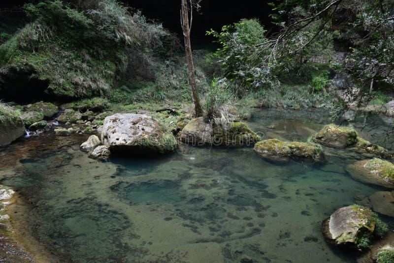 El valle se cose con las pequeñas corrientes del agua imagen de archivo