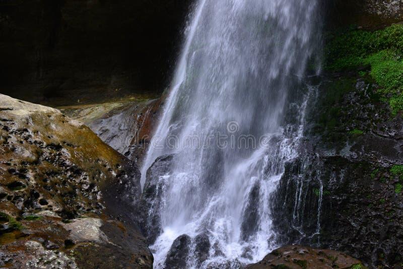El valle se cose con las pequeñas corrientes del agua fotografía de archivo libre de regalías