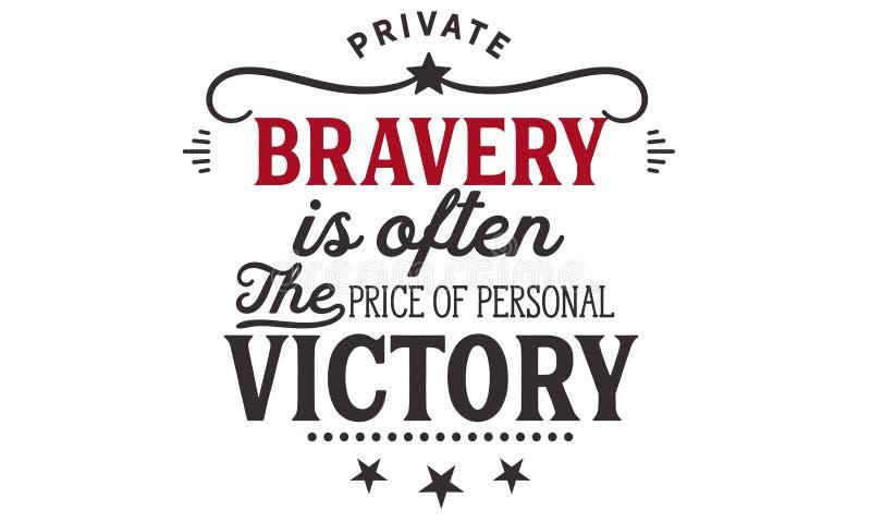 El valor privado es a menudo el precio de la victoria personal ilustración del vector