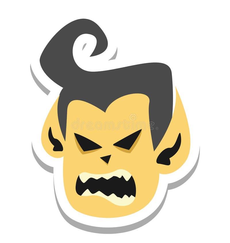 El vampiro, color de Drácula aisló el icono del vector que puede estar fácilmente corrige o se modificó libre illustration