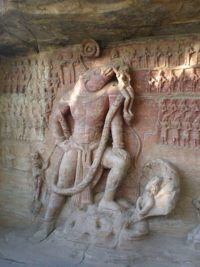 El varaha en las cuevas en Vidisha imagen de archivo