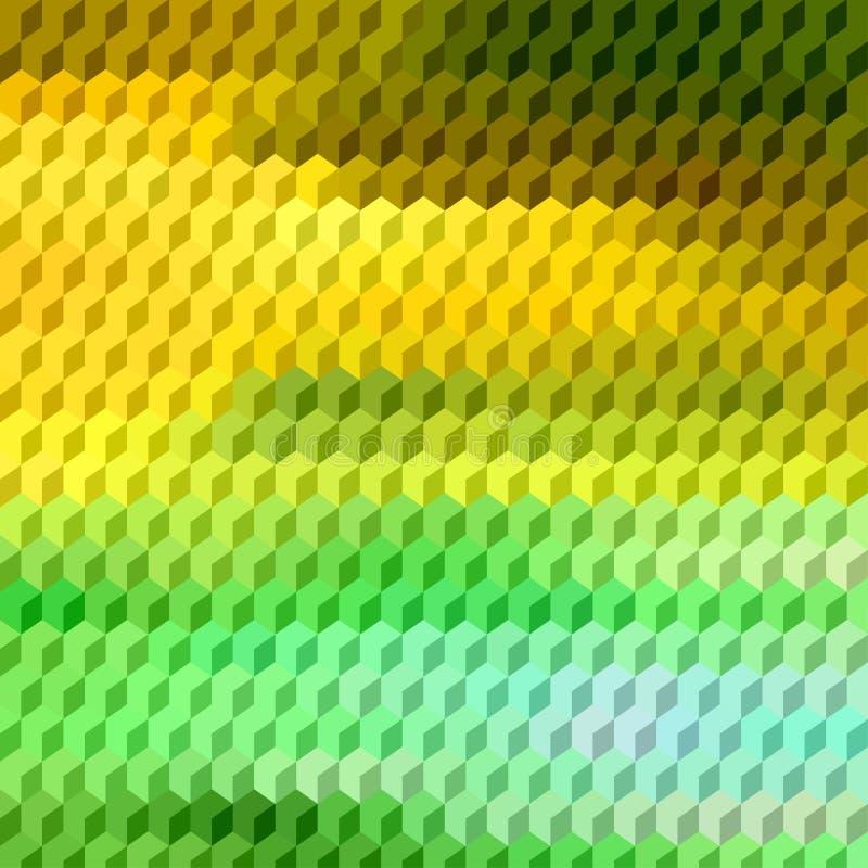 El vector abstracto 3D cubica el fondo geométrico ilustración del vector